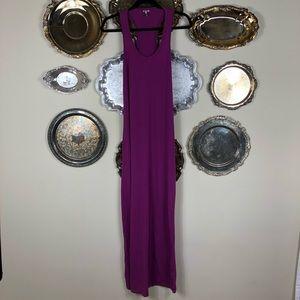 SPLENDID   Purple Racer Back Maxi Dress Soft XS